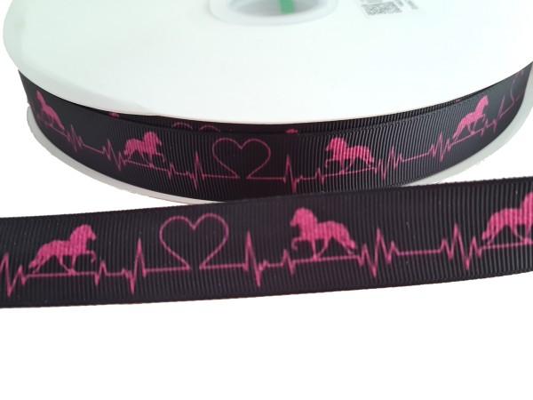 Ripsband mit Töltern Heartbeat
