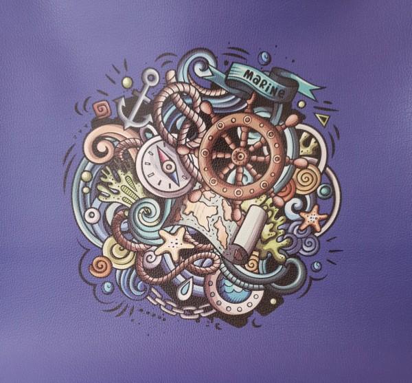 "Kunstleder Panel ""Nautic Doodle 2"""